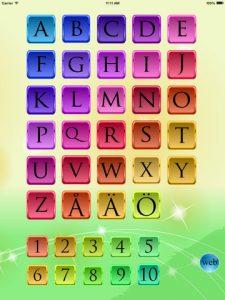 Alphabet bulletin board