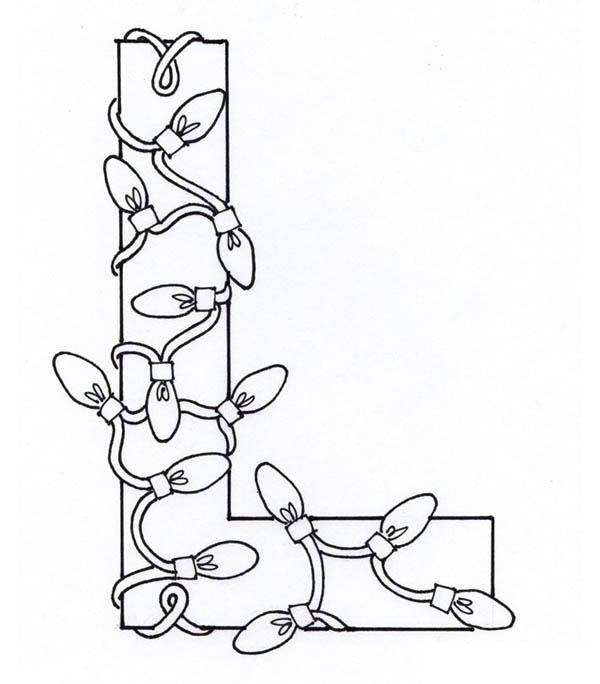 Capital letter l for light coloring page preschool crafts for Light coloring page