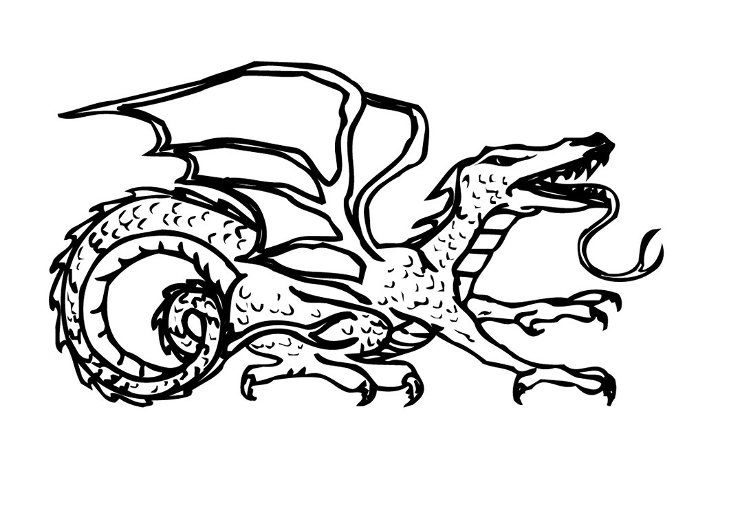 coloring pages dragons   Coloring-Pages-Dragons - Preschool Crafts