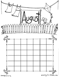 Coloring pages for the August1