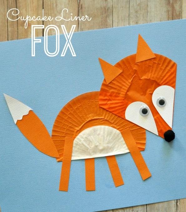 Cupcake-fox-craft-activities-for-kids
