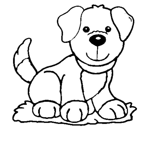 Dog coloring pages for kids preschool and kindergarten for Free coloring pages of dogs