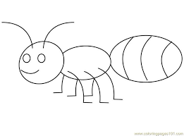 Download free  Ant coloring pages