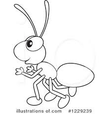Download free printable Ant coloring pages for toddler