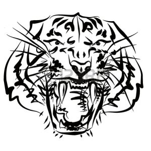 Download free printable Tiger coloring pages ideas for adult