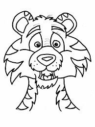 Download free printable Tiger coloring pages ideas for preschool