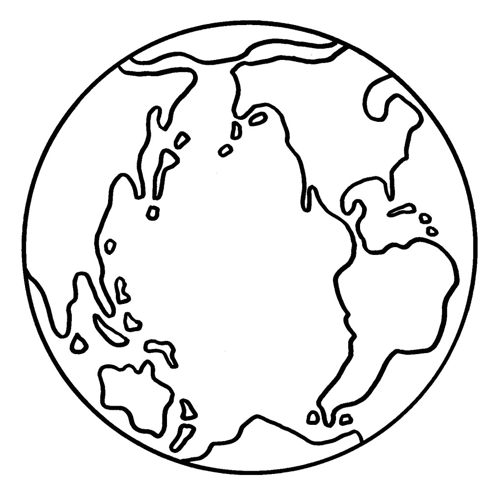earth coloring pages printable for kids - Earth Coloring Pages