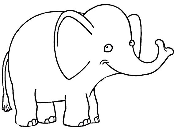 elephant coloring pages for preschool - photo#24