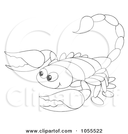 Free-Clip-Art-Illustration-Of-A-Coloring-Page-Outline-Of-A-Scorpion