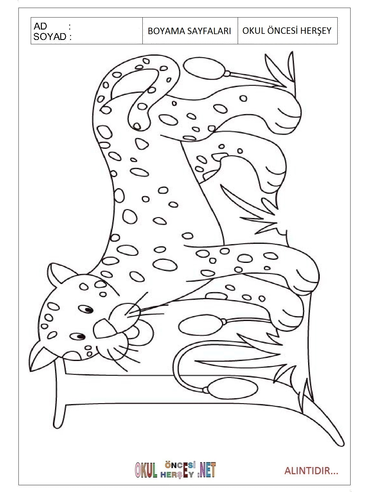 Free coloring pages jaguar
