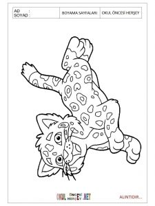 Free printable jaguar coloring pages for preschool