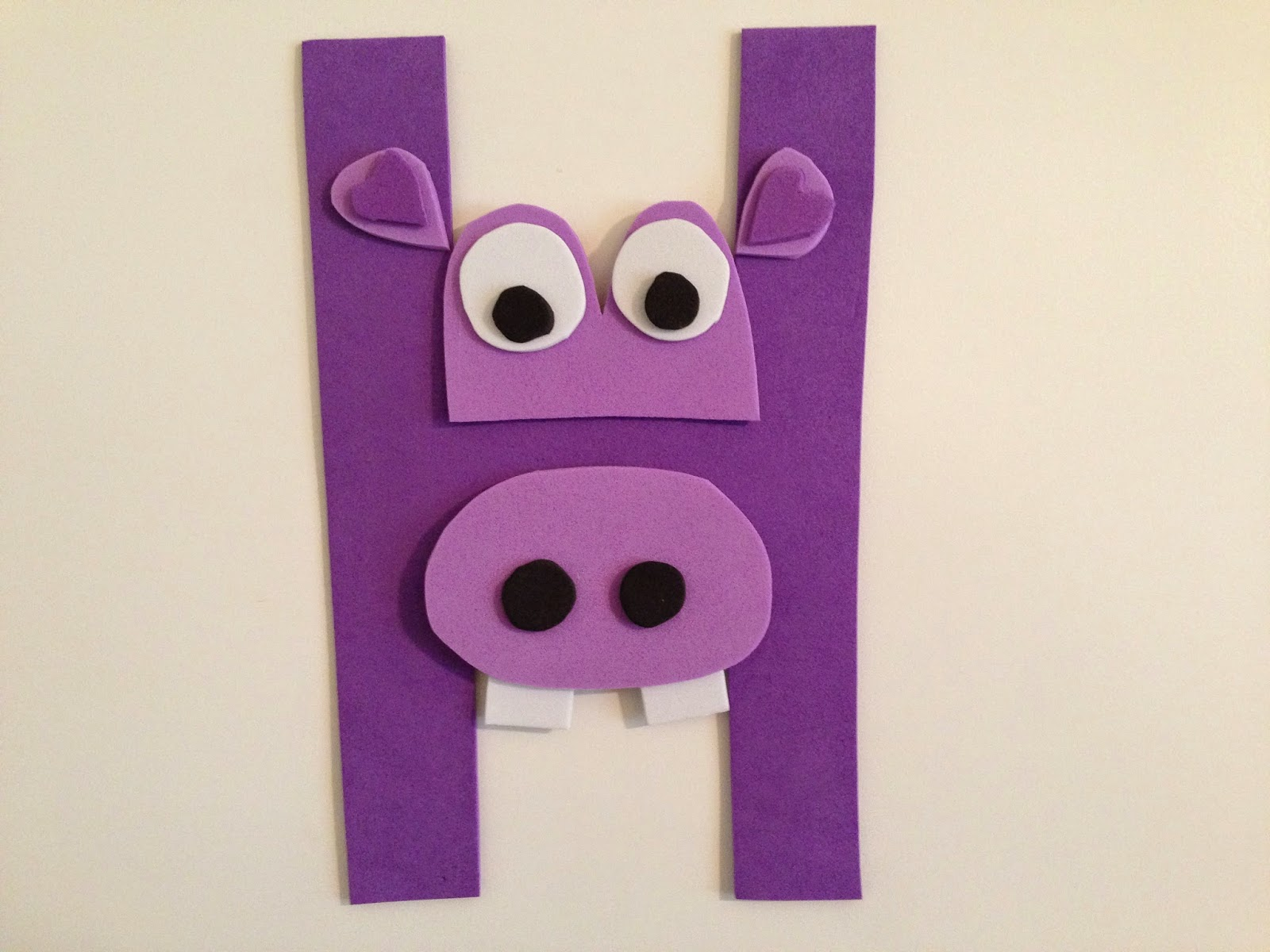 Hippo Craft For Teach Letter H on Preschool Human Body Activities