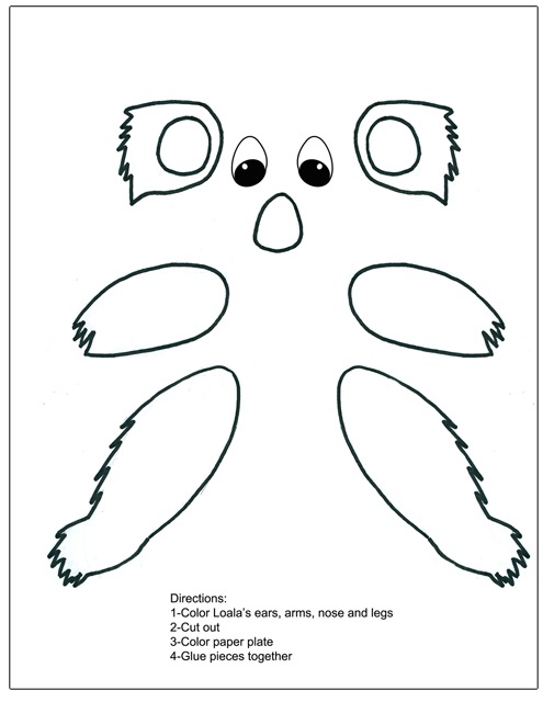 Koala_Paper_Plate_letter_k_activity