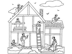 Labor Day Coloring Pages for Kids - Preschool and Kindergarten