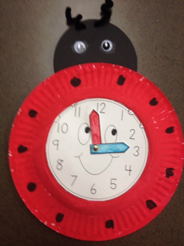Ladybug-clock-craft-idea