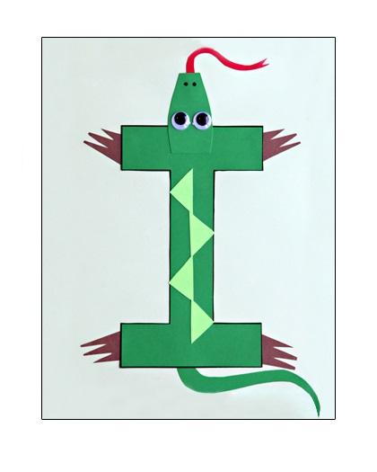 Letter-I-Craft-Iguana-for-kids