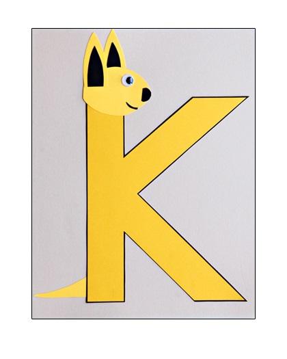 Letter-K-Craft-Kangaroo-preschool