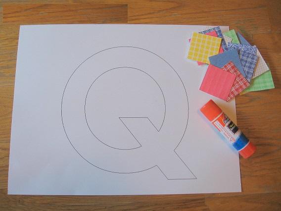 Letter Q craft for kids