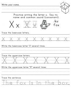 Letter-X-Worksheet