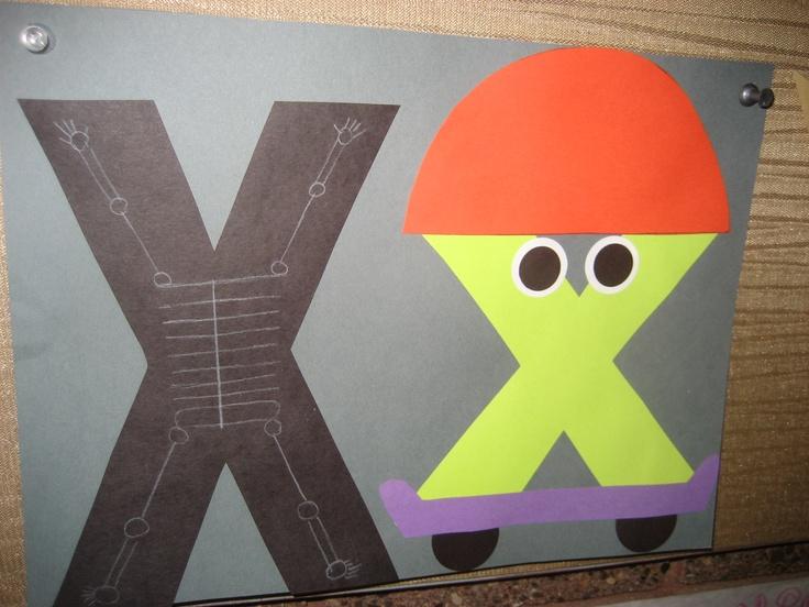 letter x crafts   preschool crafts