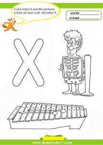 Letter-X-worksheets-for-preschool