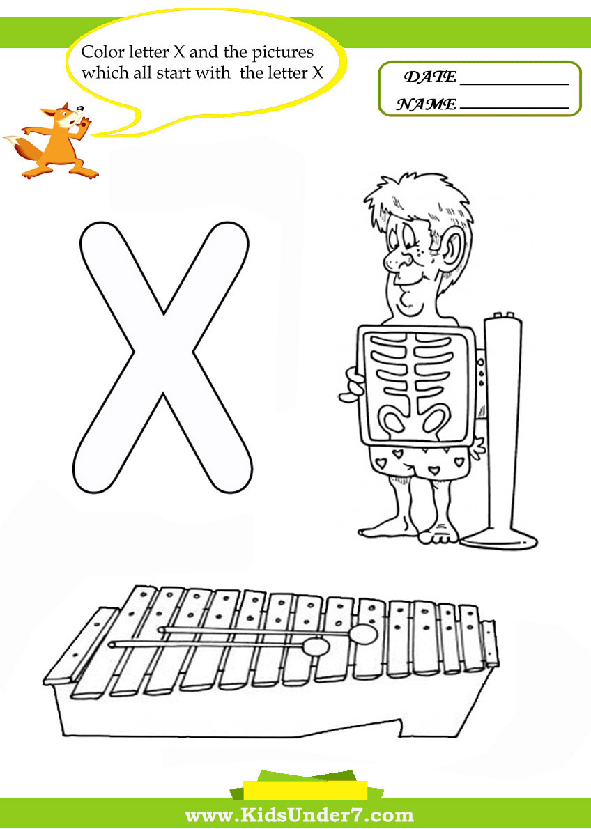 x words coloring pages