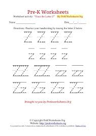 Letter z worksheets ideas for kids
