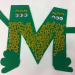 Macaroni Monsters-letter M crafts