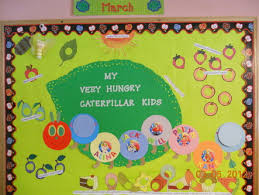 My very hungry caterpillar kids bulletin board