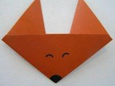 Origami fox craft