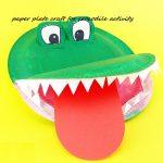 Paper-Plate-Crocodile-Crafts-Preschool