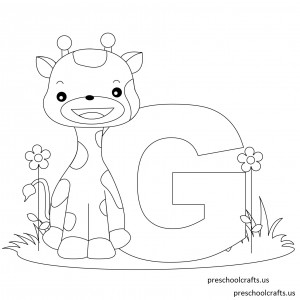 Printable-Animal-Alphabet-Letter-G-is-for-Giraffe