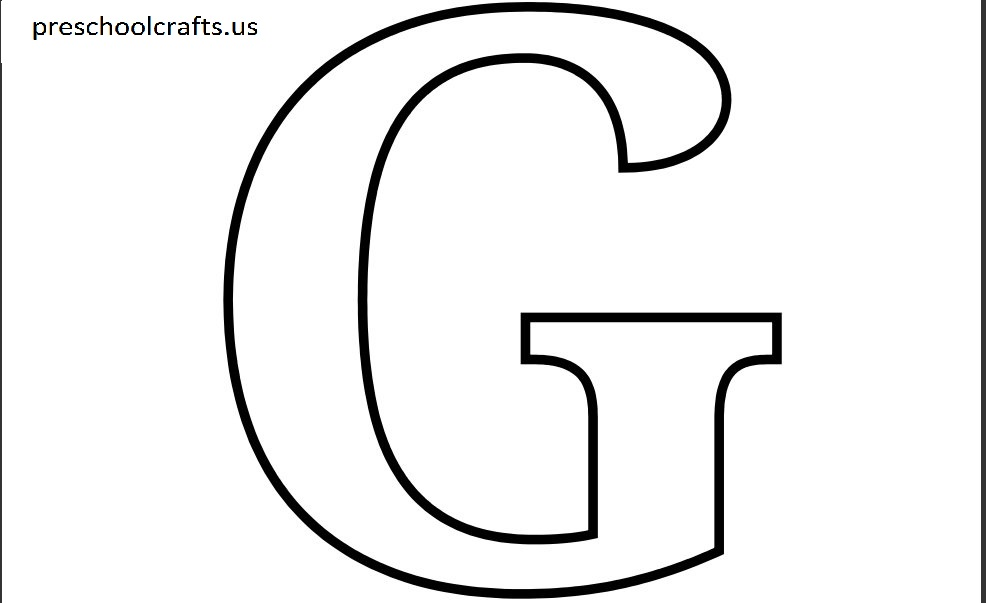 Printable letter g coloring page preschool crafts for G coloring page
