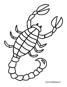 Scorpion-Coloring-Pages
