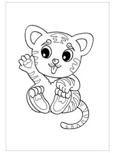 Tiger coloring pages for kindergarten