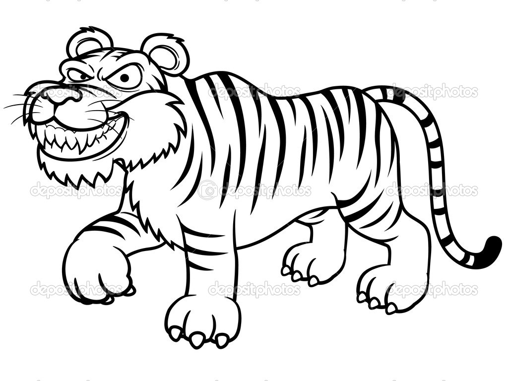 tiger coloring pages for preschoolers - photo#5