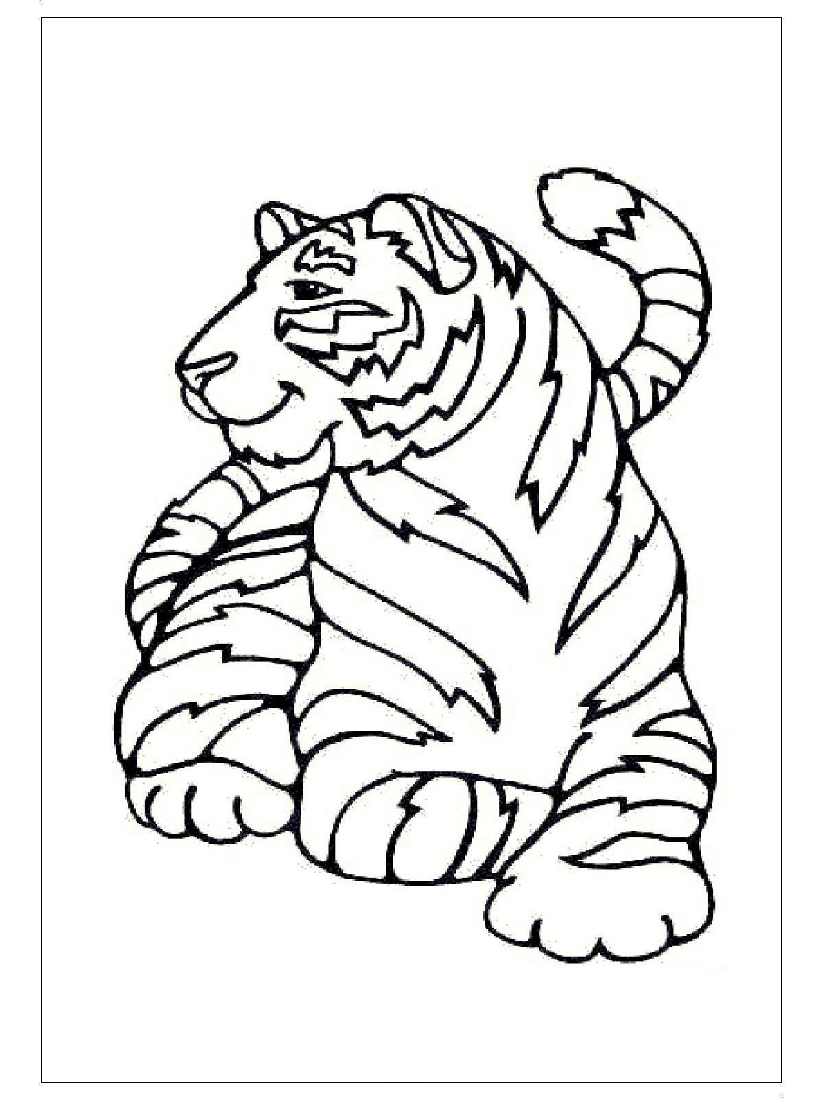Tiger Fall Coloring Pages Tiger Best Free Coloring Pages