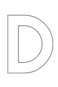 Uppercase Letter D Template For Alphabet Crafts