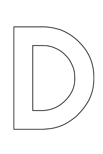 Uppercase-Letter-D-Template-for-alphabet crafts