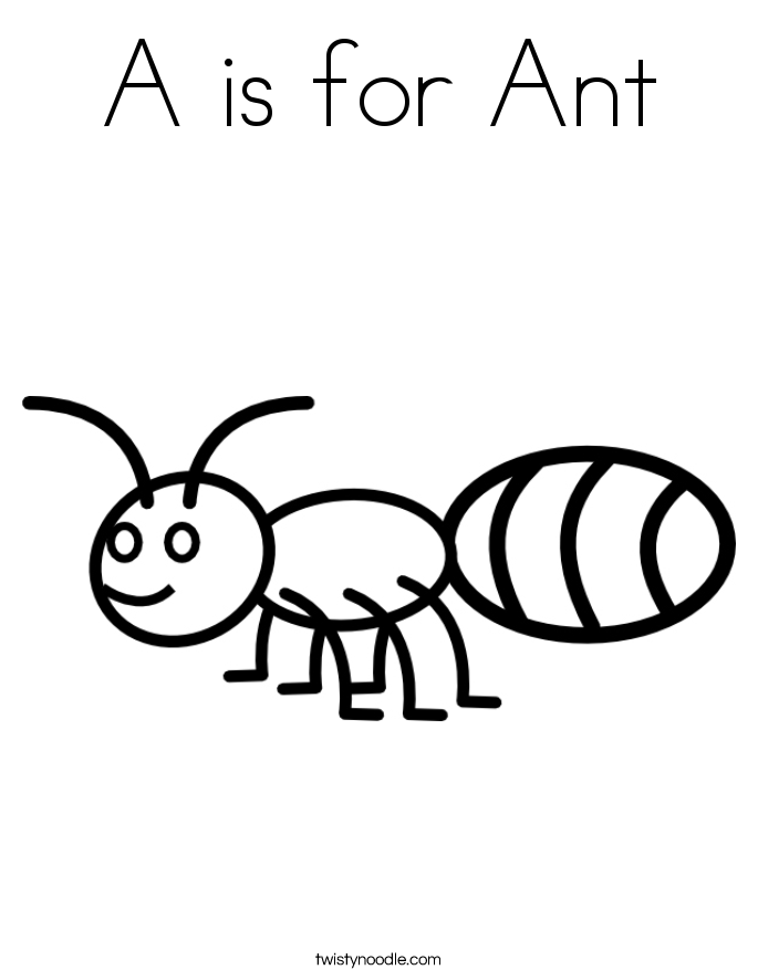 Ant Coloring Pages for Kids Preschool and Kindergarten