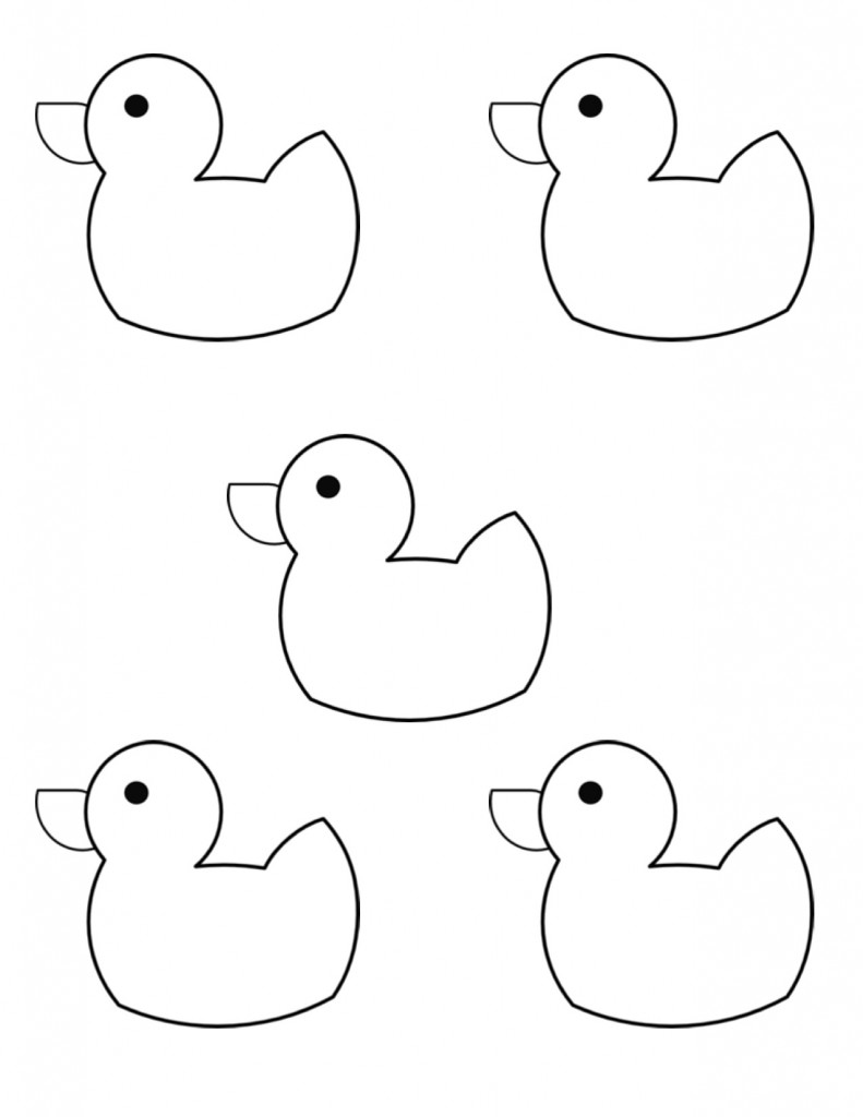 duck coloring pages for kids preschool and kindergarten