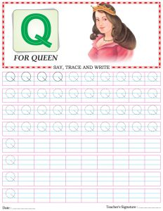 alphabet-capital-letter-Q-worksheet