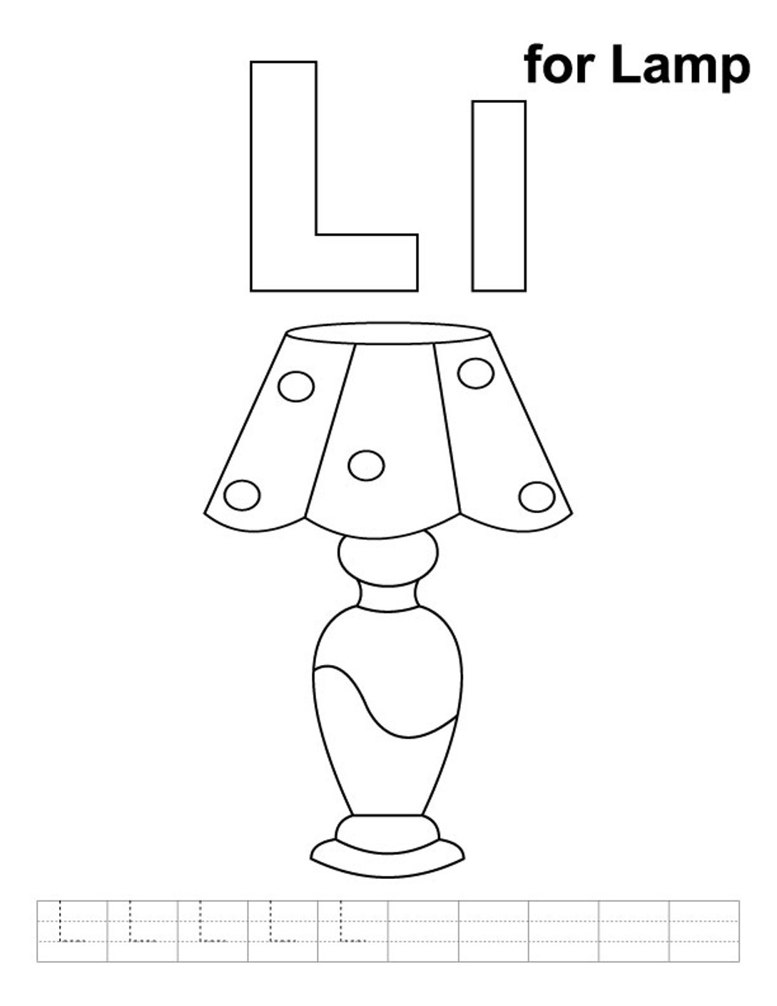 alphabet coloring pages free lamp for preschool preschool crafts