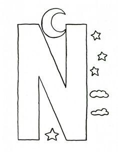 alphabet letter n craft template for kids