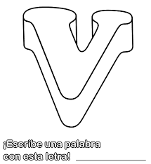 alphabet letter v coloring homework