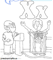 alphabet letter x coloring pages