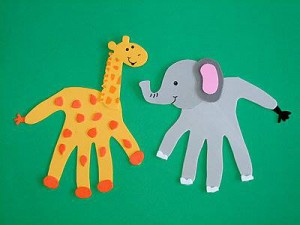 animal crafts for giraffe