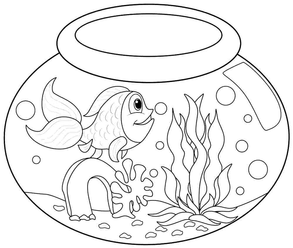 fish coloring pages for preschool preschool and kindergarten. Black Bedroom Furniture Sets. Home Design Ideas