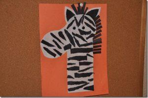animal zebra craft idea