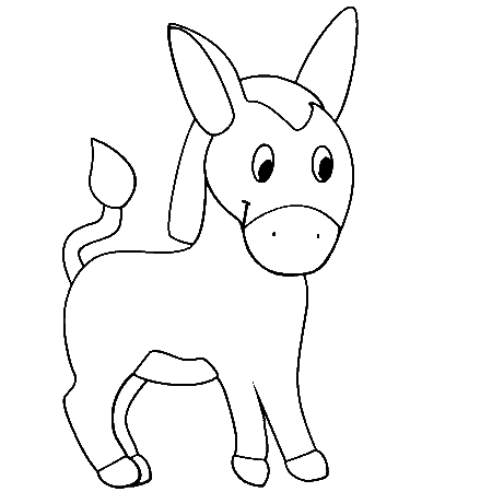 Animals donkey printable colouring pages for preschool for Donkey coloring pages free